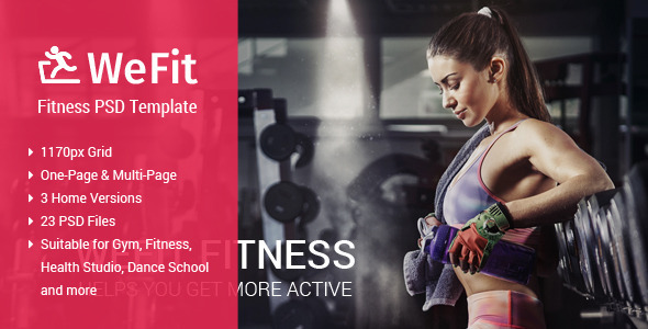 WeFit | Health & Fitness PSD Template TFx
