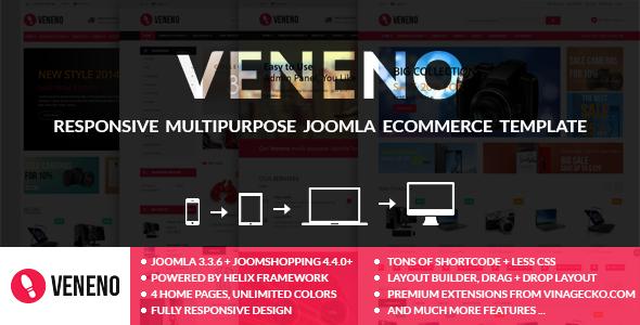 Veneno - Multipurpose Joomla eCommerce Template  TFx