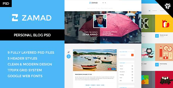 Zamad - Personal Blog Theme   TFx