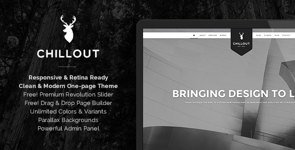 Chillout - Parallax One-Page WordPress Theme   TFx