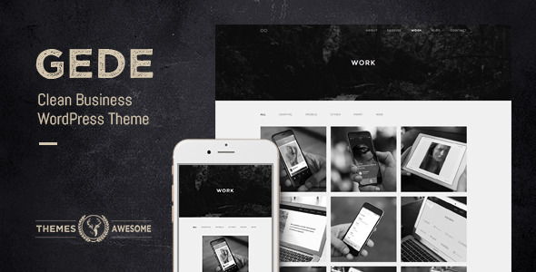 Gede - Clean Business WordPress Theme  TFx