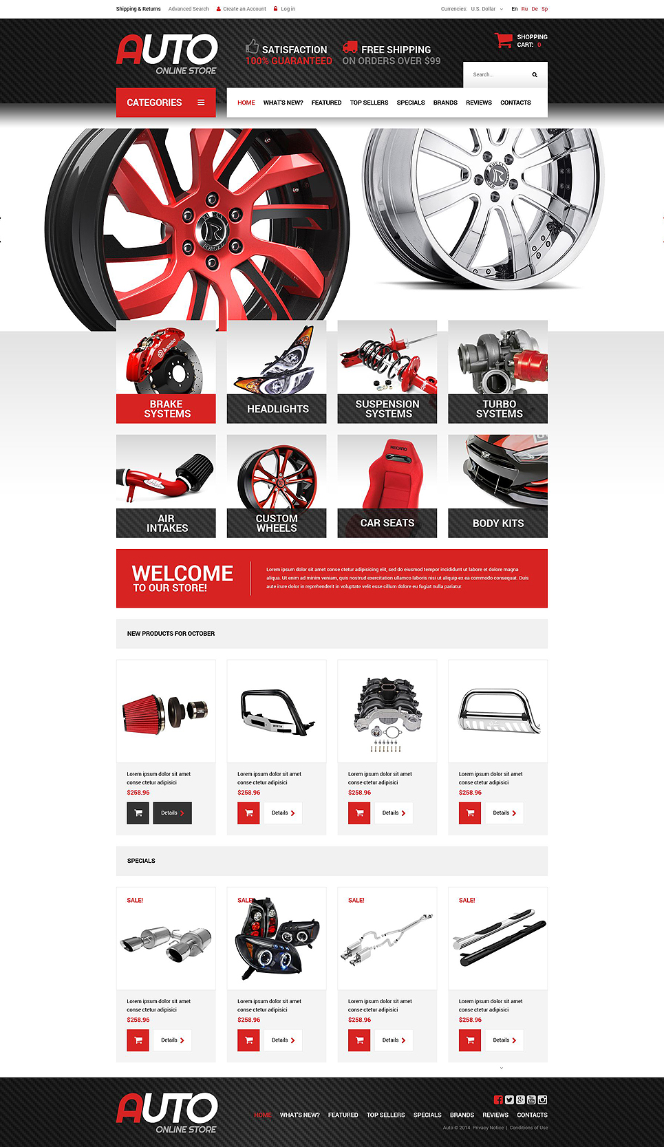 Spare Parts OsCommerce Template TMT