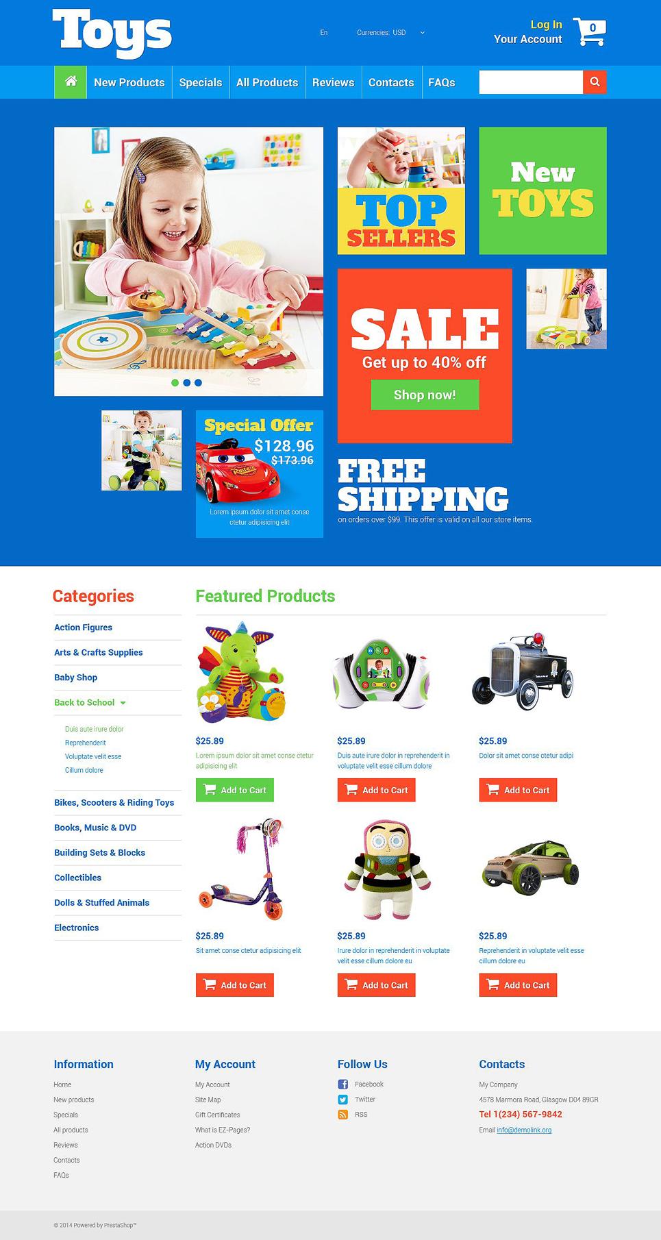 Toy Store ZenCart Template TMT