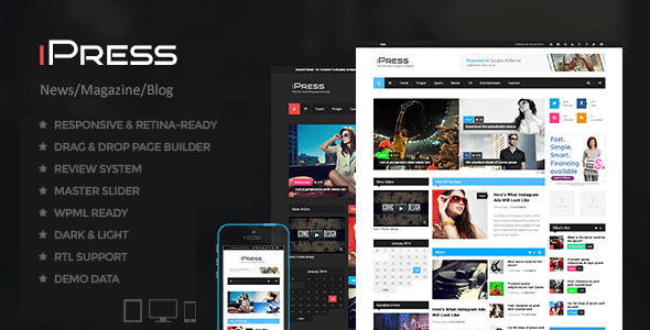 iPress - Blog/Magzine/News Wordpress Theme  TFx