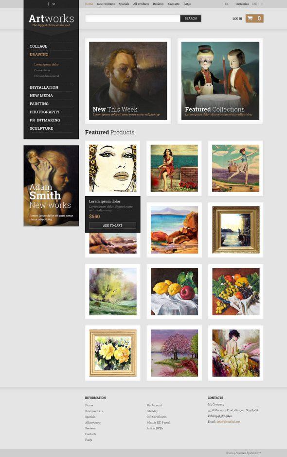 Art Store ZenCart Template TMT