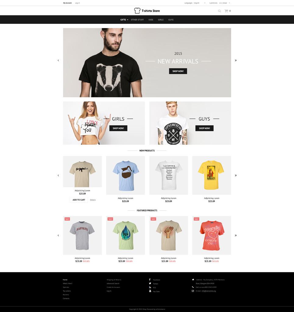 Designed TShirts OsCommerce Template TMT