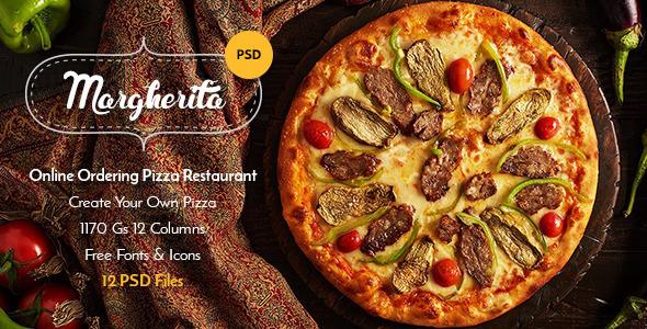 Margherita - Online Ordering Pizza Restaurant PSD  TFx