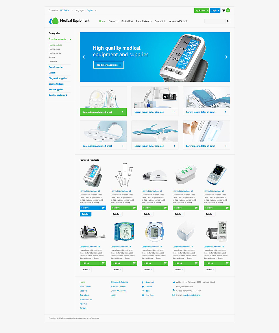 Medical Stock OsCommerce Template TMT