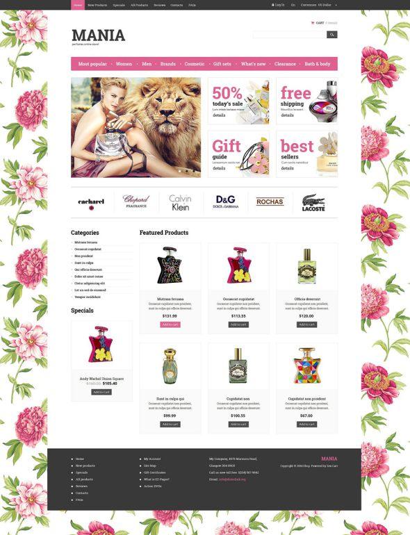 Cosmetics Store ZenCart Template TMT