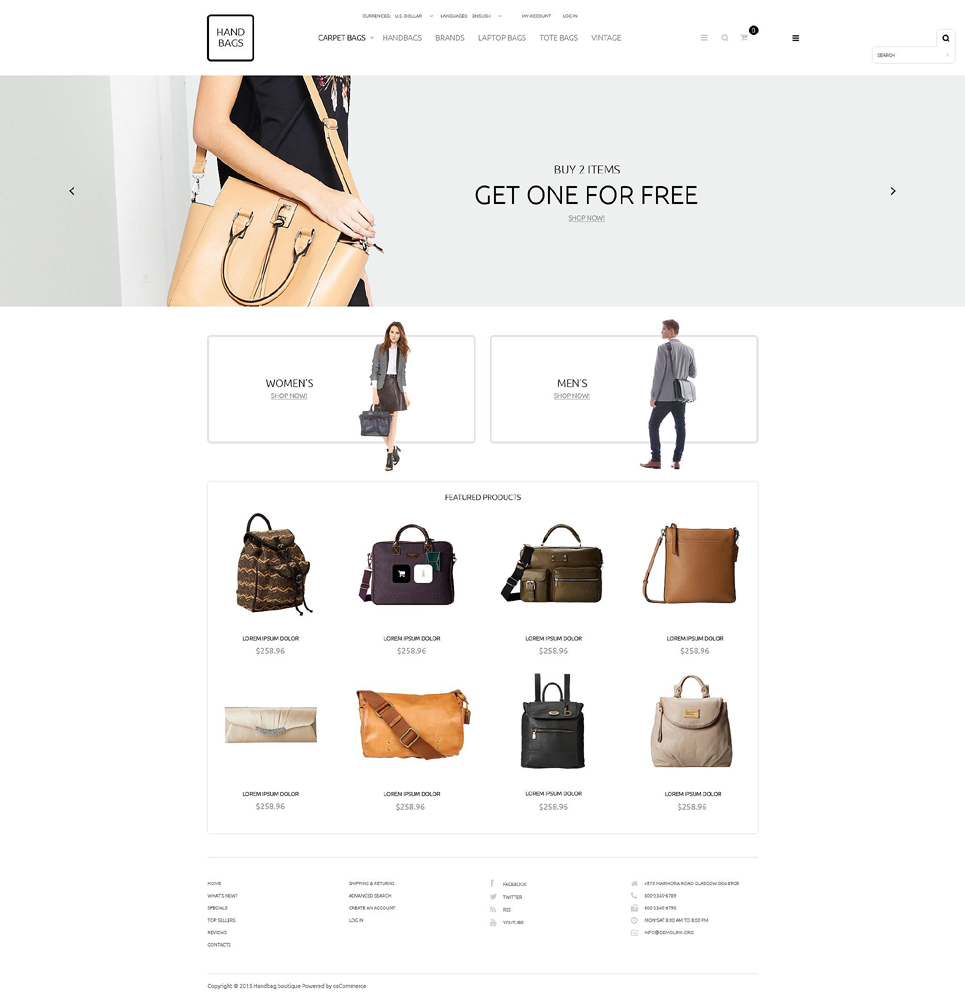 Handbag Boutique OsCommerce Template TMT