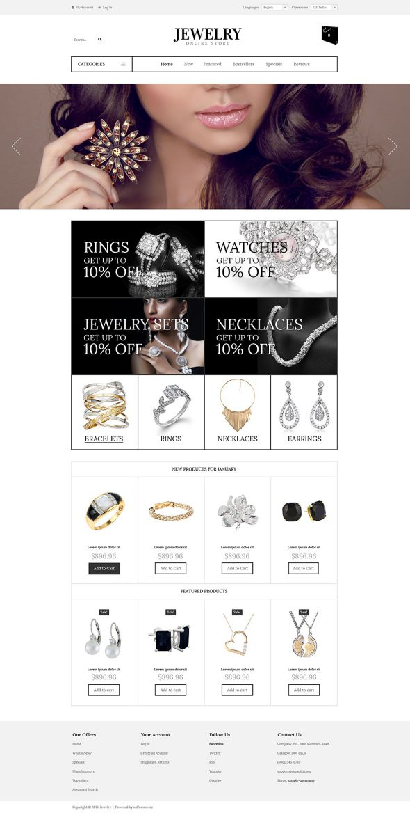 Luxury Jewelry OsCommerce Template TMT