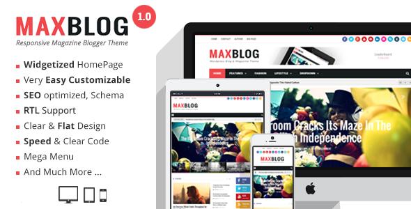 MaxBlog - Responsive Magazine Blogger Theme  TFx