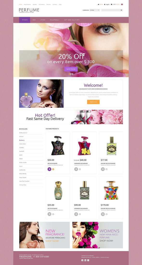 Perfumes ZenCart Template TMT