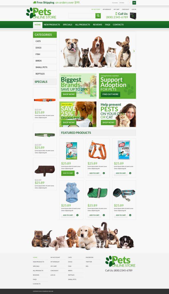 Pet Shop ZenCart Template TMT
