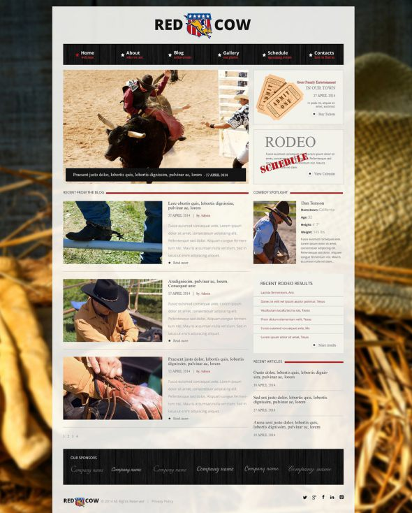 Popularity of Rodeo Business Drupal Template TMT