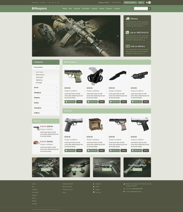 Profitable Online Store OsCommerce Template TMT