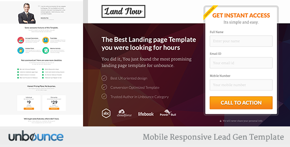Unbounce - Responsive Landing Page Template  TFx