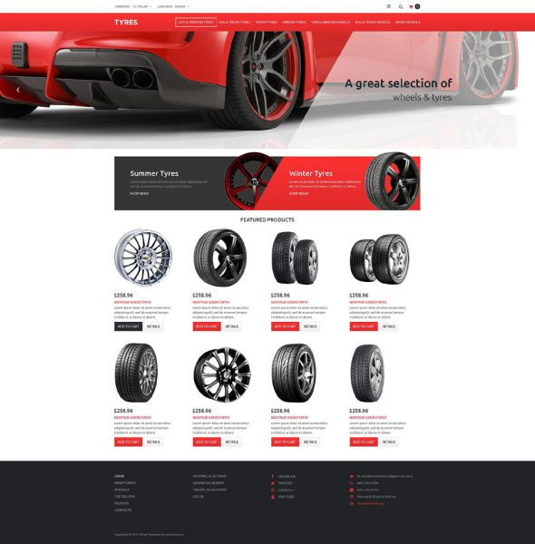 Wheels & Tires OsCommerce Template TMT