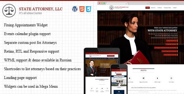 Attorney & Law | Lawyers WordPress Template  TFx
