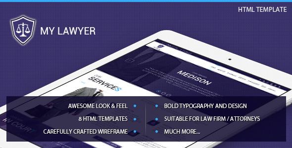MyLawyer - Lawyer Attorney HTML Template  TFx
