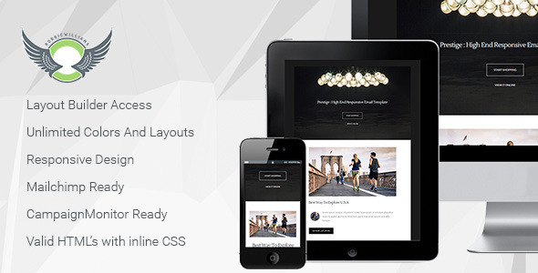 Prestige - Responsive Email Template with Builder  TFx