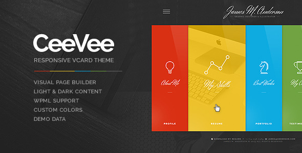 CeeVee - Responsive CV Resume WordPress Theme  TFx