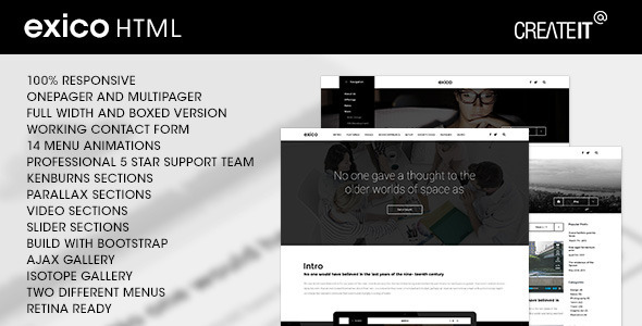 Exico - Corporate HTML Template            TFx