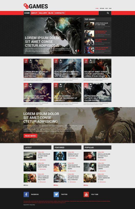 Game Portal Responsive Drupal Template TMT