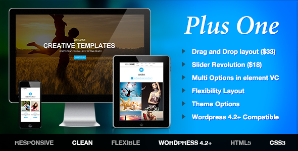 Plus one page wordpress theme            TFx