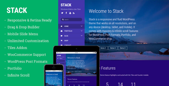 Stack - WordPress Theme for Creating Metro Layouts            TFx