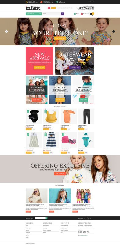 Baby Store OsCommerce Template TMT