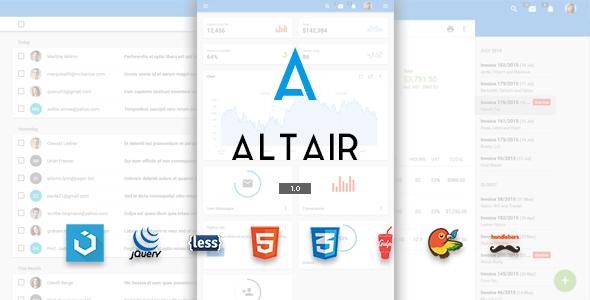 Altair Material Design Premium Template            TFx