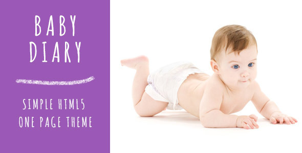 Baby Diary - One Page Responsive Theme            TFx