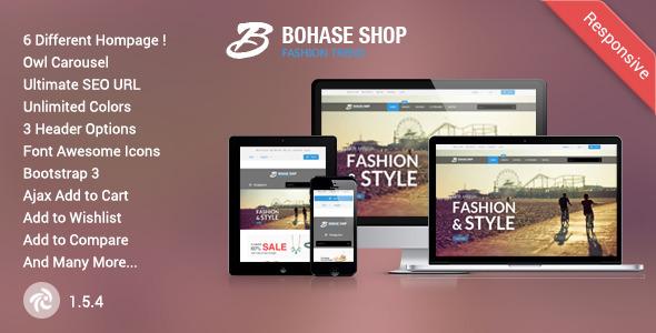Bohase - Responsive Zen cart Theme            TFx