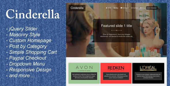 Cinderella - Responsive Blogger Template            TFx