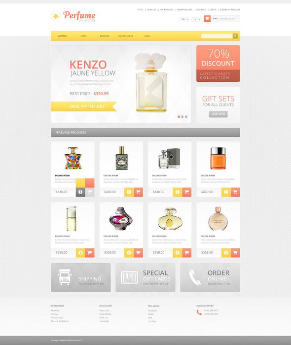 Cosmetics Store OsCommerce Template TMT