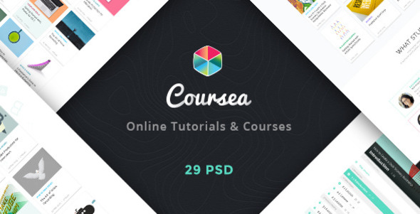 Coursea - Online Tutorials & Courses Template            TFx
