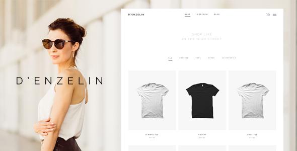 D'enzelin - HTML E-Commerce Website Template            TFx