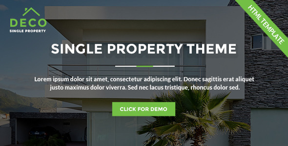 DecoHouse - Single Property Real Estate            TFx