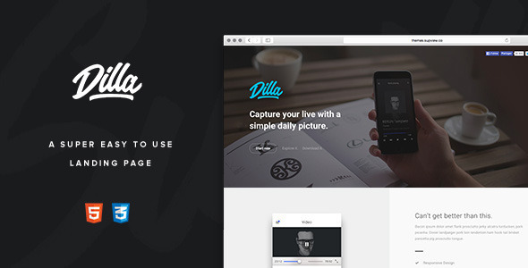 Dilla - Easy To Use Landing Page            TFx