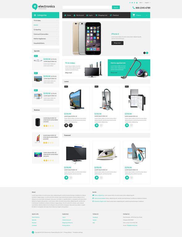 Electronics Store Responsive ZenCart Template TMT