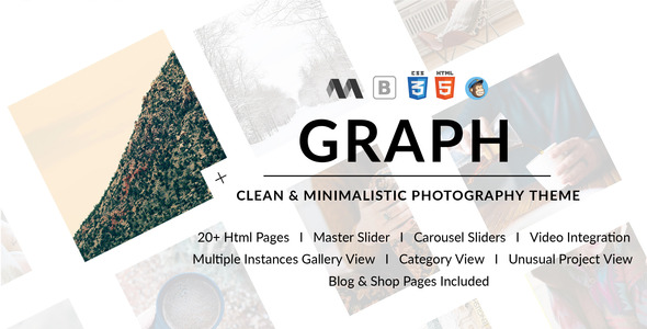 GRAPH - Clean & Minimal Photography Template            TFx