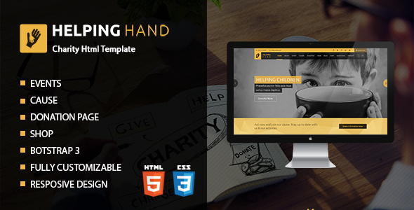 Helping Hand | Charity Donation HTML Template            TFx