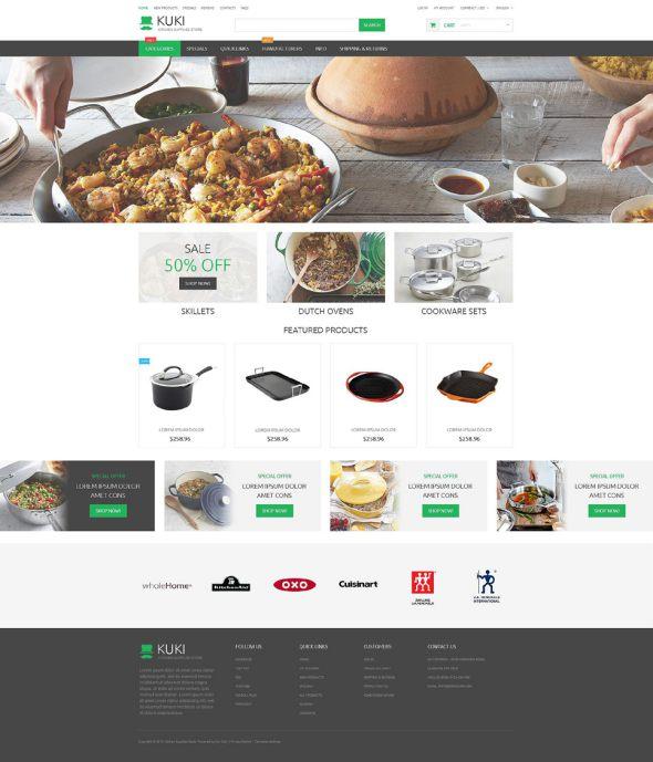 Housewares Responsive ZenCart Template TMT