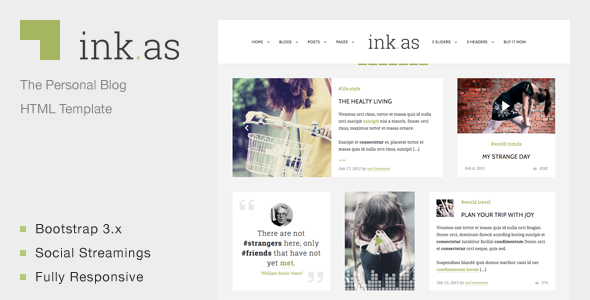 Inkas - The Personal Blog HTML Template             TFx