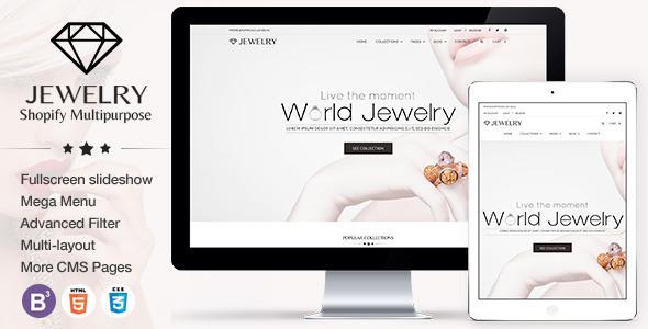 Jewelry Responsive Shopify Theme            TFx