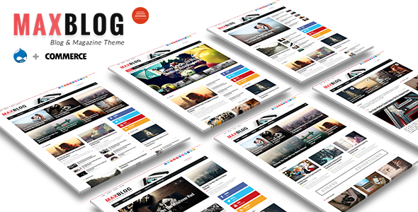 MaxBlog - Flat News Magazine Blog Drupal            TFx