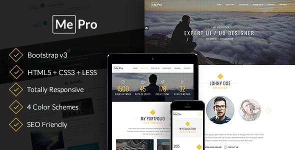 MePro - Creative Personal & Portfolio Template            TFx