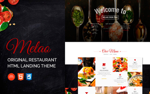 Melao Restaurant Landing Page Template            TFx