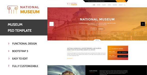 Museum - Premium PSD Template            TFx